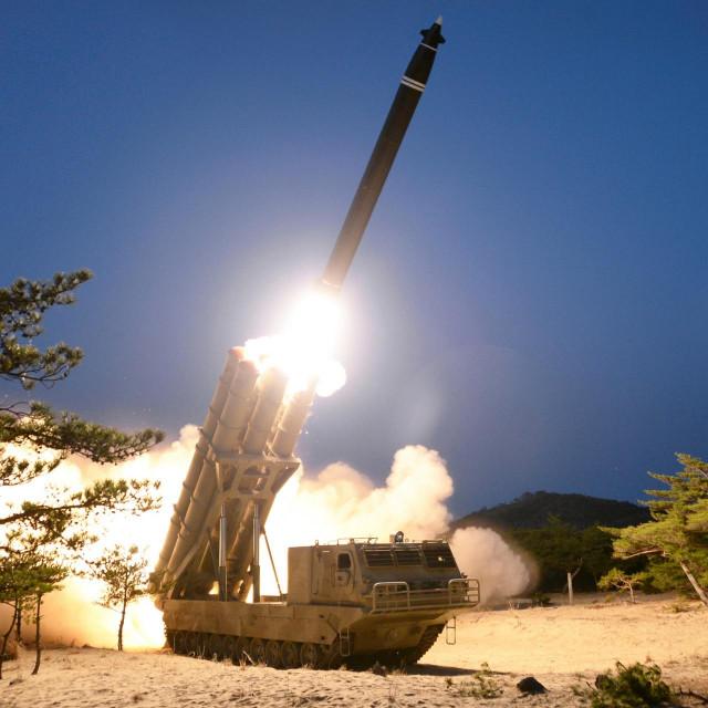 Ilustracija, lansiranje rakete u Sj. Koreji