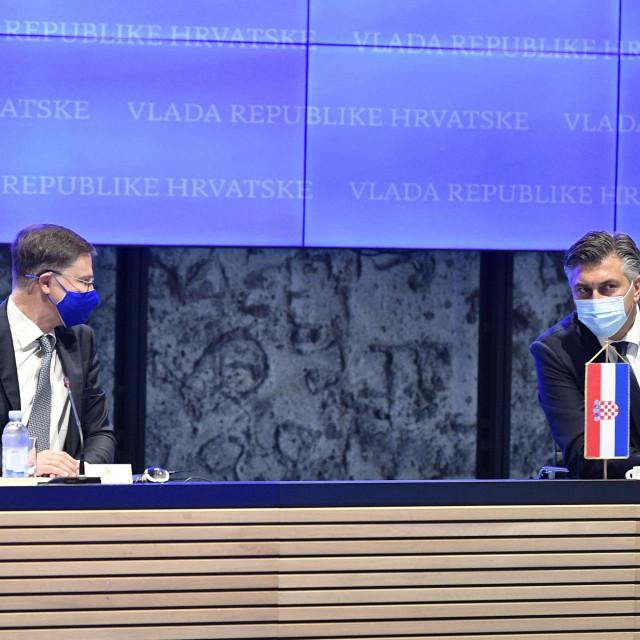 Valdis Dombrovskis, Andrej Plenković