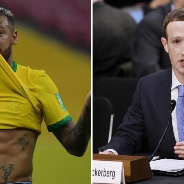 Neymar i Mark Zuckerberg