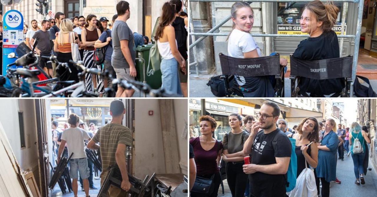 Nevjerojatni prizori iz centra Zagreba, u redovima se čekalo za stolice iz kafića Kina Europa, sve se razgrabilo