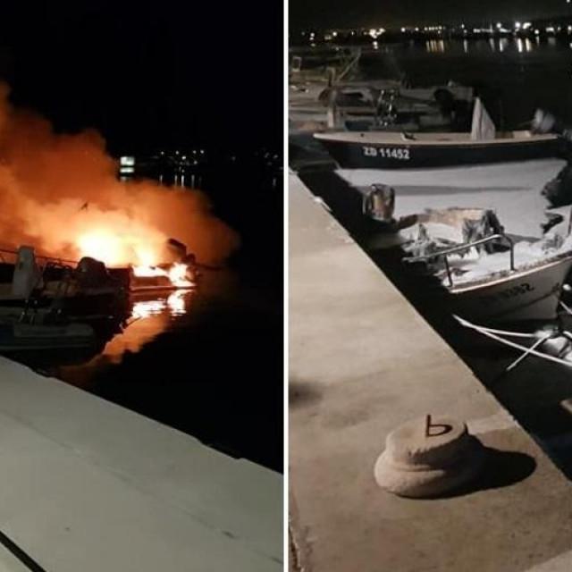 Na sukošanskoj rivi izgorjeli brodovi
