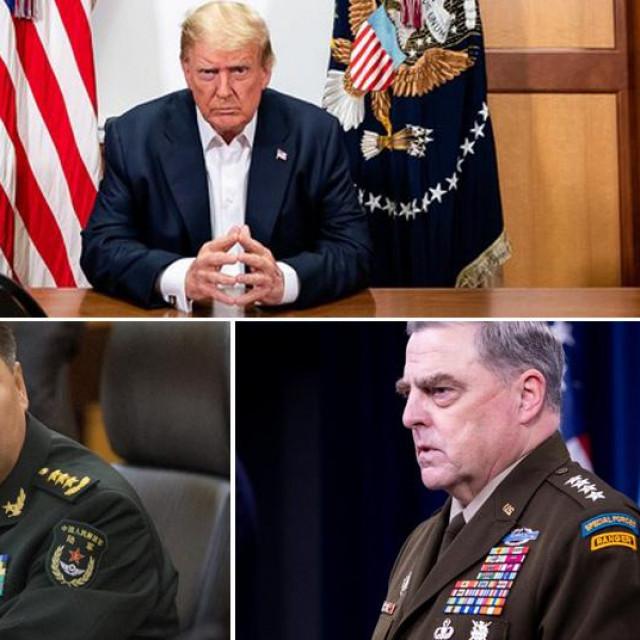 Donald Trump, Li Zuocheng, Mark Milley i američki interkontinentalni balistički projektil Minuteman III