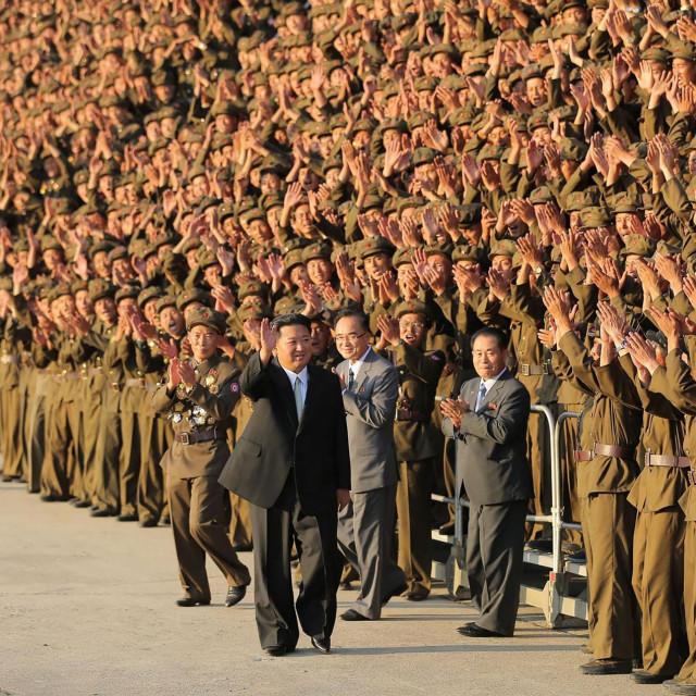 Kim Jong Un na vojnoj paradi