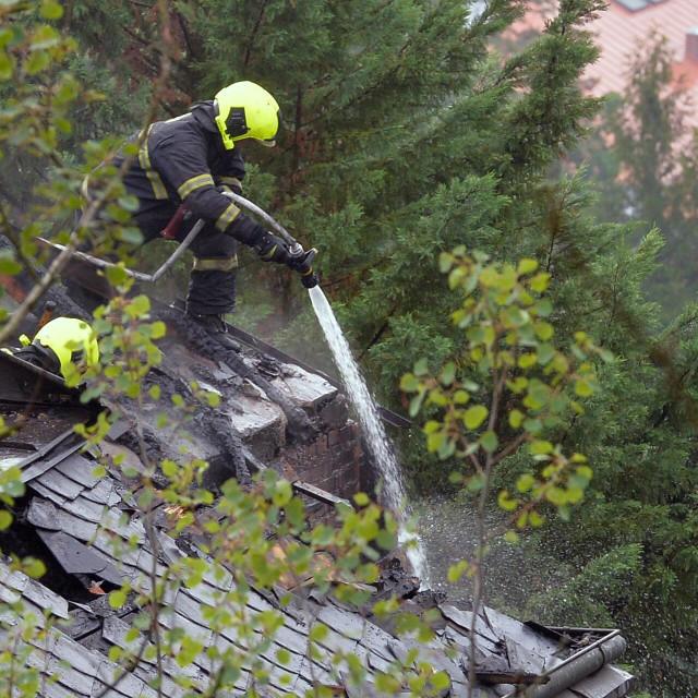 Ilustracija, vatrogasci u Češkoj