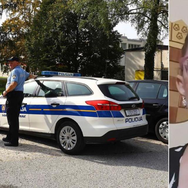 Policija kod škole u Krapinskim Toplicama i Bernarda Jug
