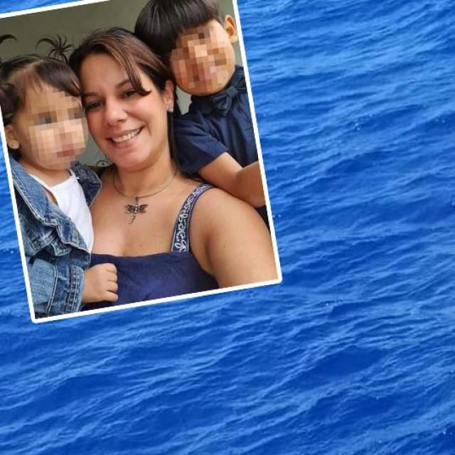 Mariely Chacon s djecom neposredno prije spašavanja