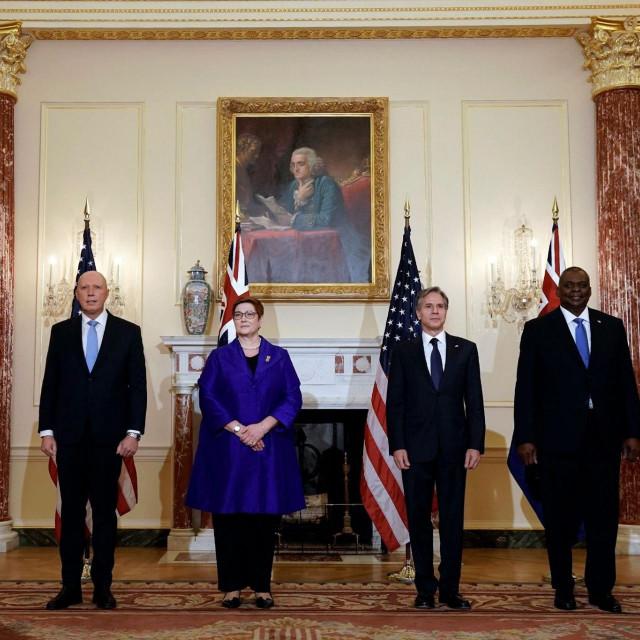 Državnici na potpisivanu pakta AUKUS