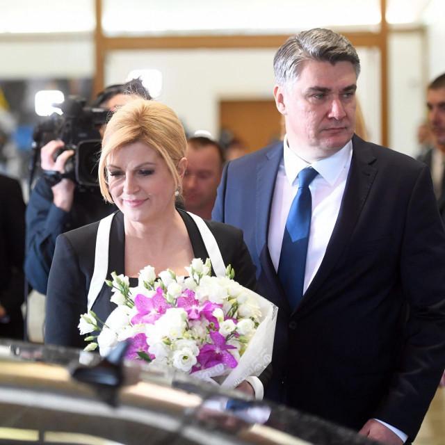 Kolinda Grabar-Kitarović i Zoran Milanović