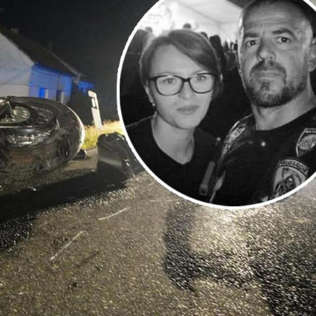 Katarina i Vitomir Bubnjić iz Virovitice (u krugu) stradali su u strašnom sudaru u Končanici