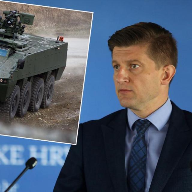 U pogonima Đure Đakovića proizvedena su i oklopna vozila Patria (u okviru); ministar Marić