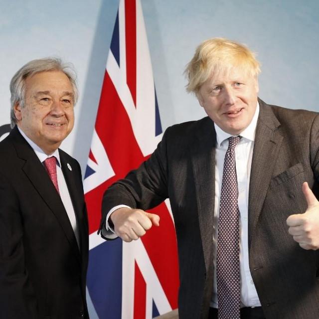 Boris Johnson i Antonio Guterres