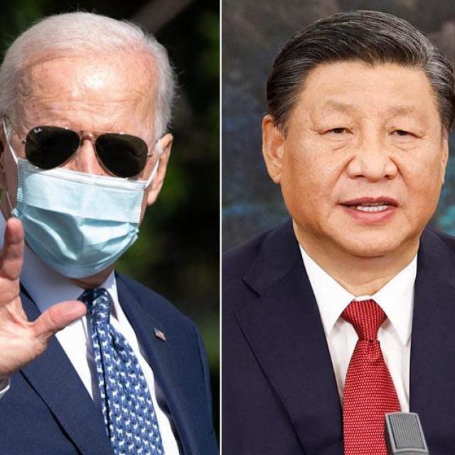 Joe Biden, Xi Jinping, Emmanuel Macron