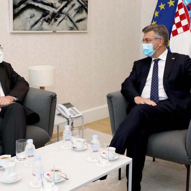 Andrej Plenković primio Visokog predstavnika za Bosnu i Hercegovinu Christiana Schmidta