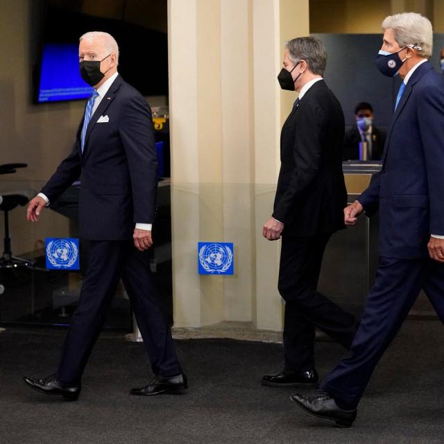 Joe Biden i John Kerry na Generalnoj skupštini UN-a, rujan, 2021.
