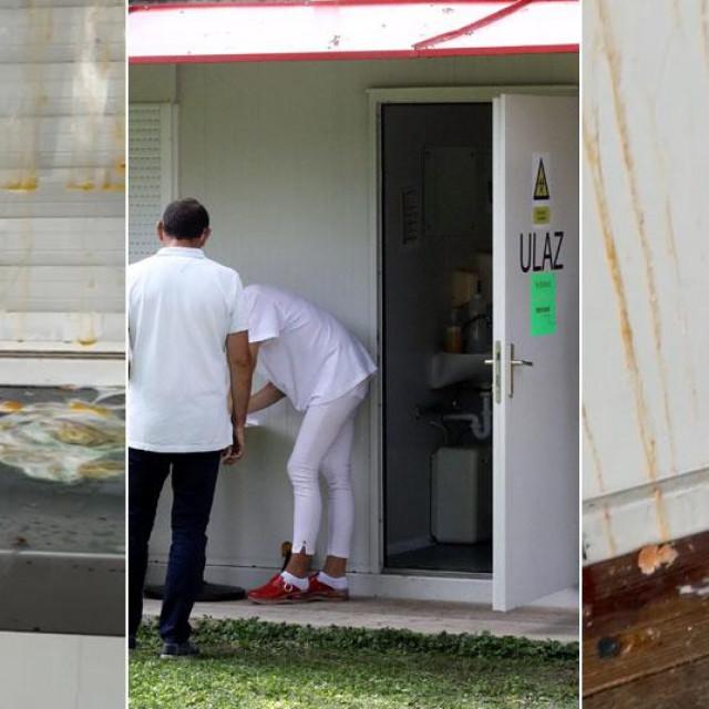 Nepoznati vandali zasuli su kontejner u kojem se provode testiranja pokvarenim jajima