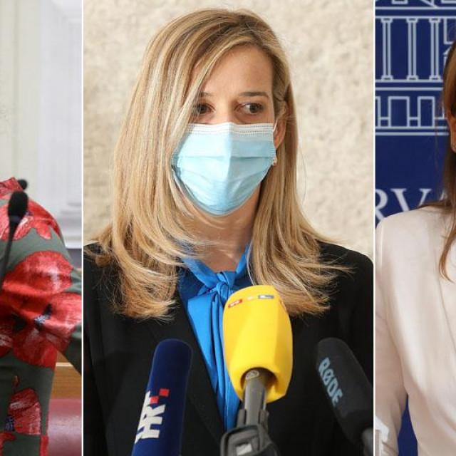 Marija Selak Raspudić, Mirela Ahmetović, Karolina Vidović Krišto