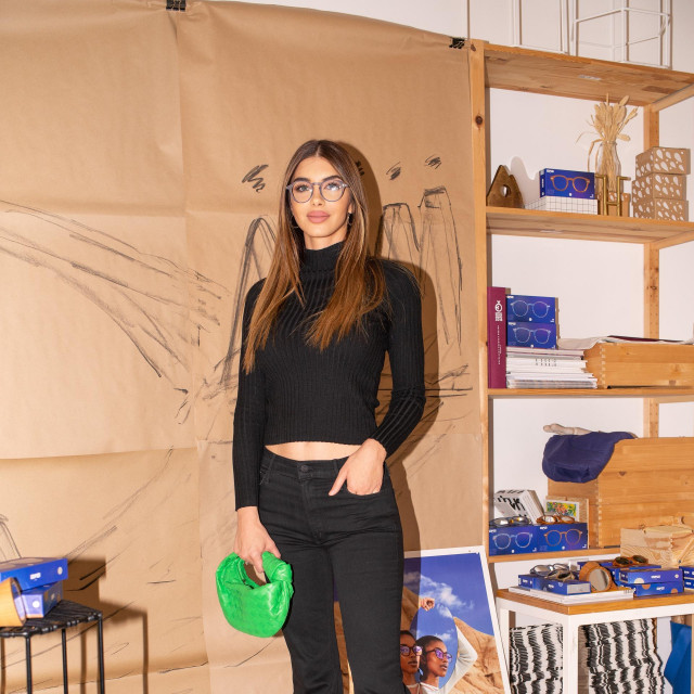Iva Šarić na predstavljanju nove IZIPIZI kolekcije.