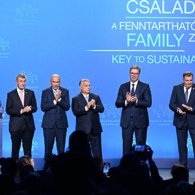 Andrej Babiš, Janez Janša, Viktor Orban, Aleksandar Vučić i Milorad Dodik