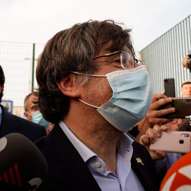 Carles Puigdemont snimljen nakon izlaska iz zatvora