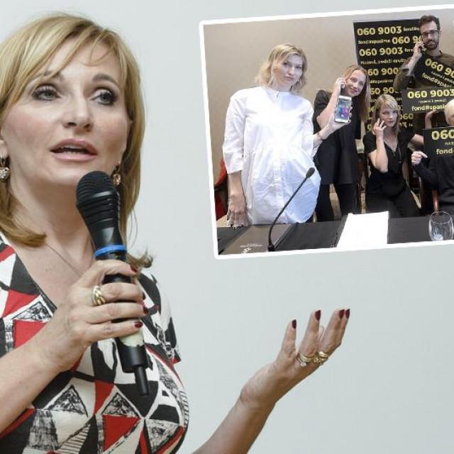 Gordana Buljan Flander; u pravokutniku: Inicijativa #SpasiMe