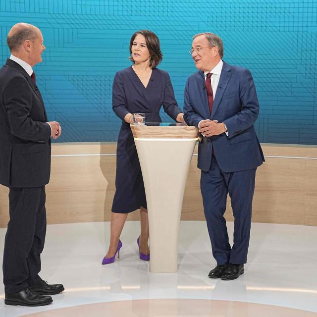 Olaf Scholz, Annalena Baerbock, Armin Laschet