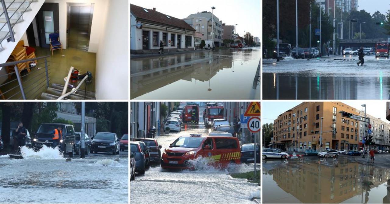 kaos u zagrebu trešnjevka pod vodom zbog puknuća vodovodne cijevi: potopljene ulice, podrumi, garaže...