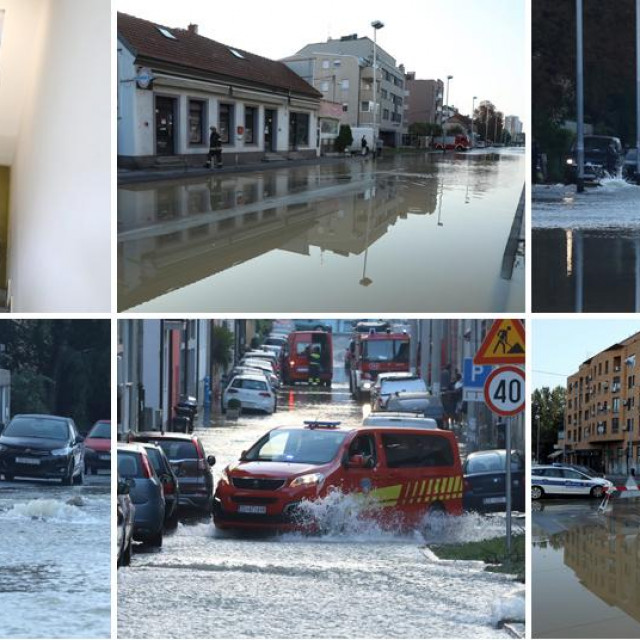 Poplava na zagrebačkoj Trešnjevci