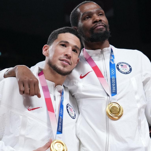 Devin Booker i Kevin Durant na Olimpijskim igrama