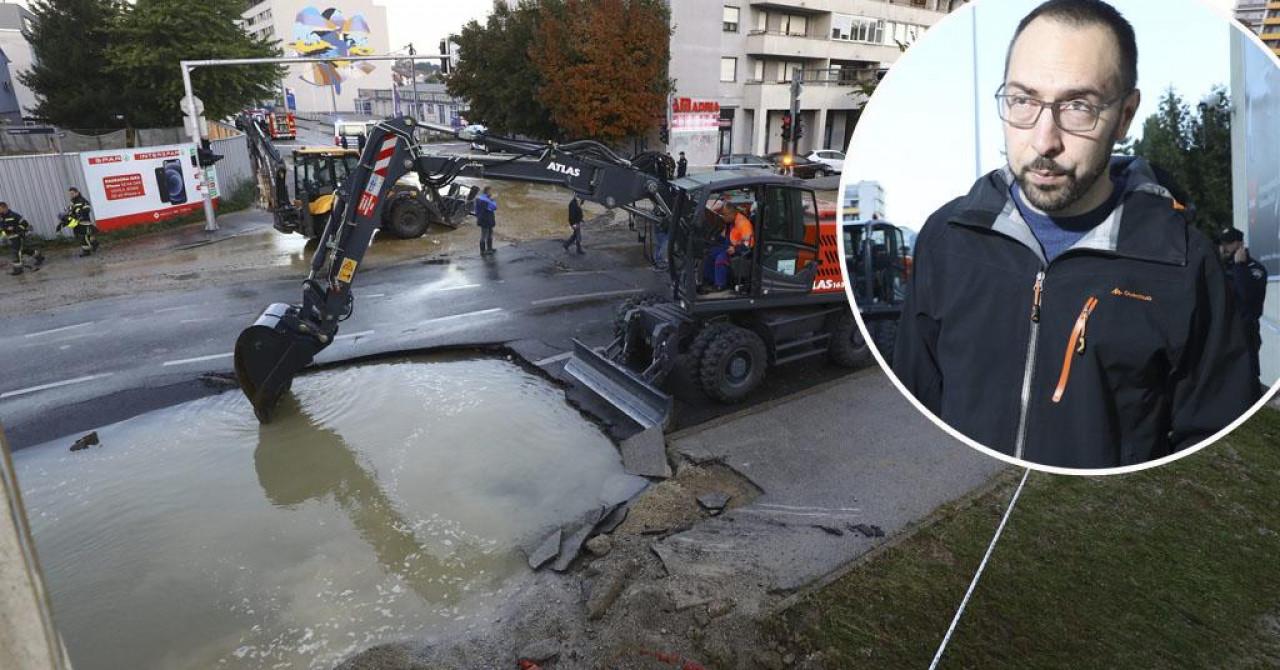 puknuo cjevovod gradonačelnik tomašević o kaotičnom jutru na trešnjevci: šteta na ulici je veća nego u nedjelju