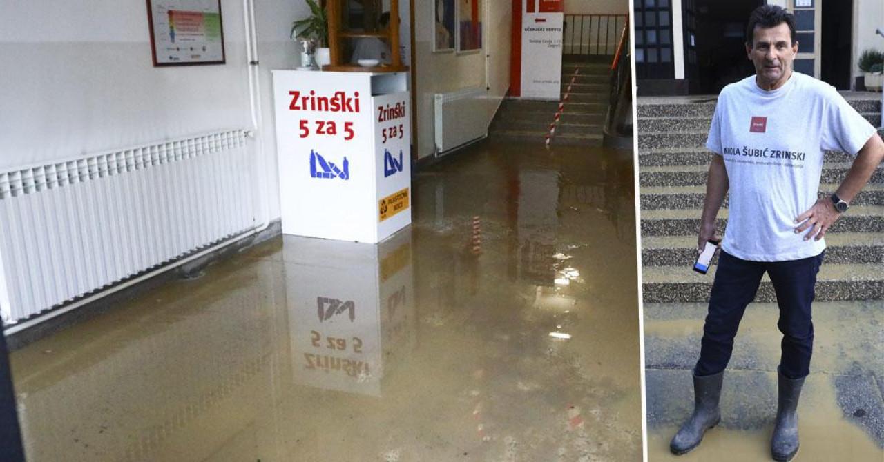 Ravnatelj poplavljene škole: 'Situacija je prilično strašna i kaotična! Hvala svima koji pomažu'