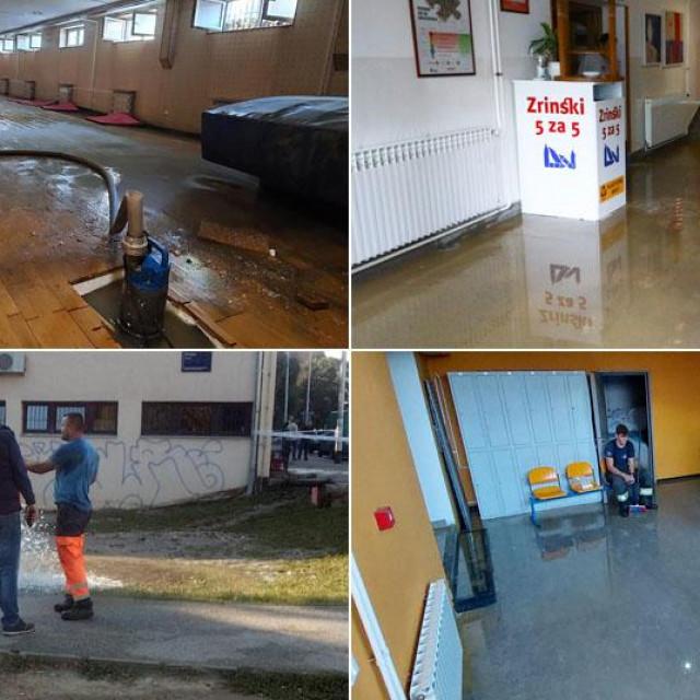 Poplavljene škole na Trešnjevci