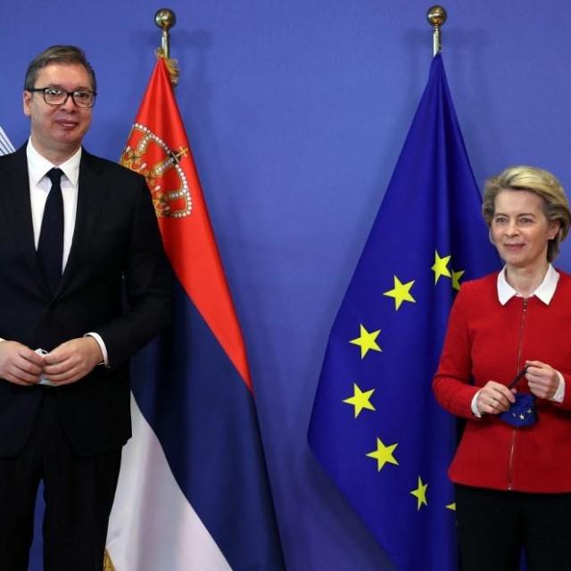 Aleksandar Vučić i Ursula von der Leyen