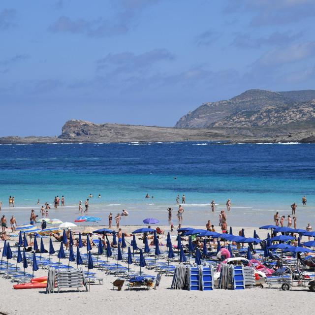 Spiaggia della Pelosa in Stintino, northern Sardegna