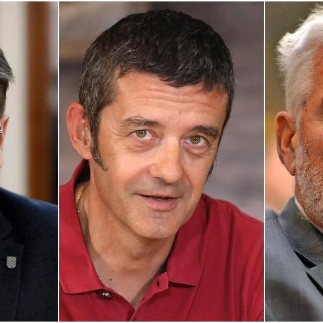 Luka Burilović, Dražen Oreščanin i Marin Lovrović