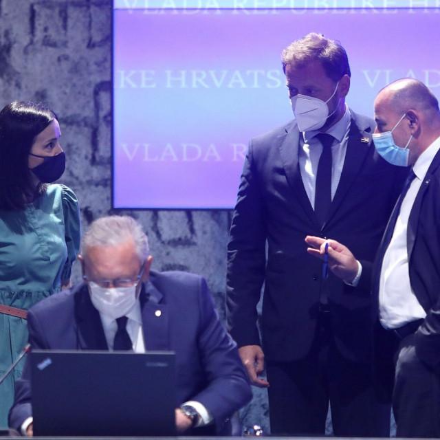 Marija Vučković, Davor Božinović, Mario Banožić i Tomo Medved