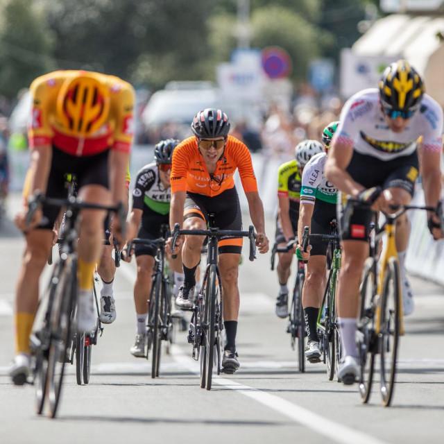 Prizor završnice utrke CRO Race na njezinoj istarskoj etapi