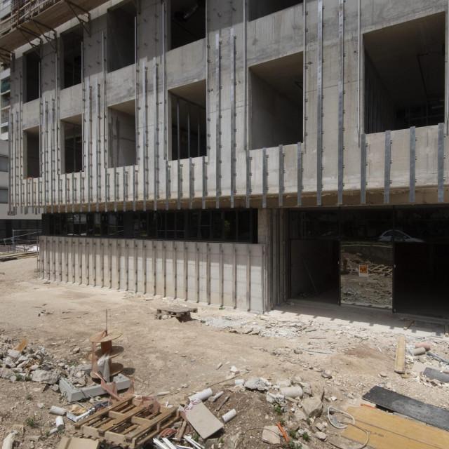 Zgrada suda u Gundulićevoj ulici u izgradnji