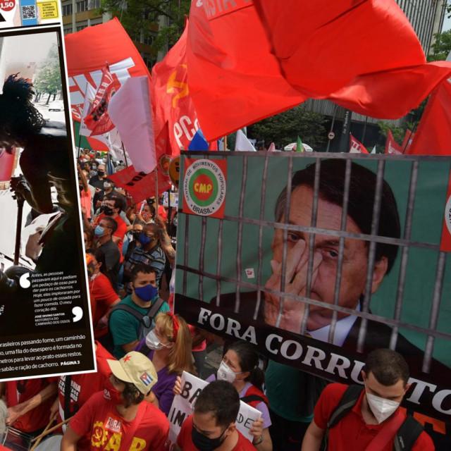 Prosvjedi u Brazilu i uznemirjuća naslovnica novina Extra
