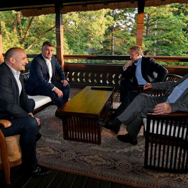 Orsat Miljenić, Zoran Milanović, Bakir Izetbegović i Stjepan Mesić