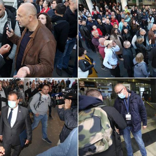 Prosvjed pred KBC-om Zagreb