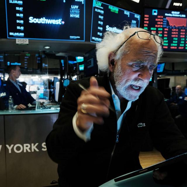 Burno je u ponedjeljak bilo na financijskom tržištu u New Yorku<br /> Spencer Platt/Getty Images/AFP<br />