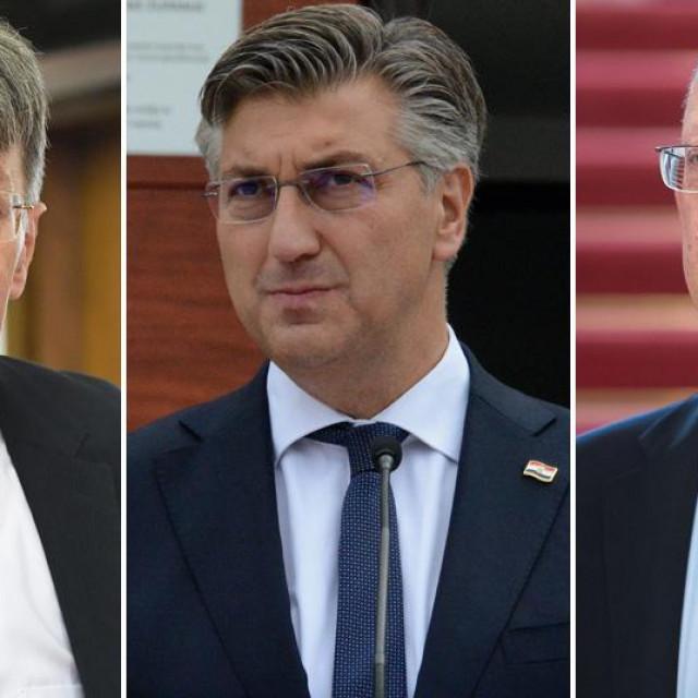 Radovan Dobronić, Andrej Plenković, Marin Mrčela