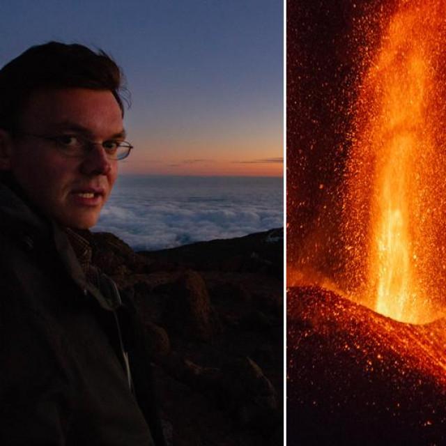 Stefan Cikota i vulkan Cumbre Vieja
