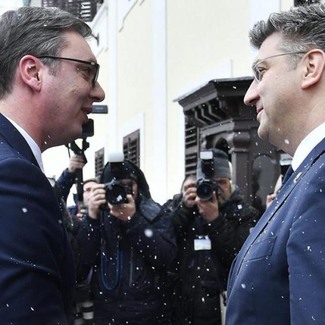 Aleksandar Vučić i Andrej Plenković, arhivska fotografija