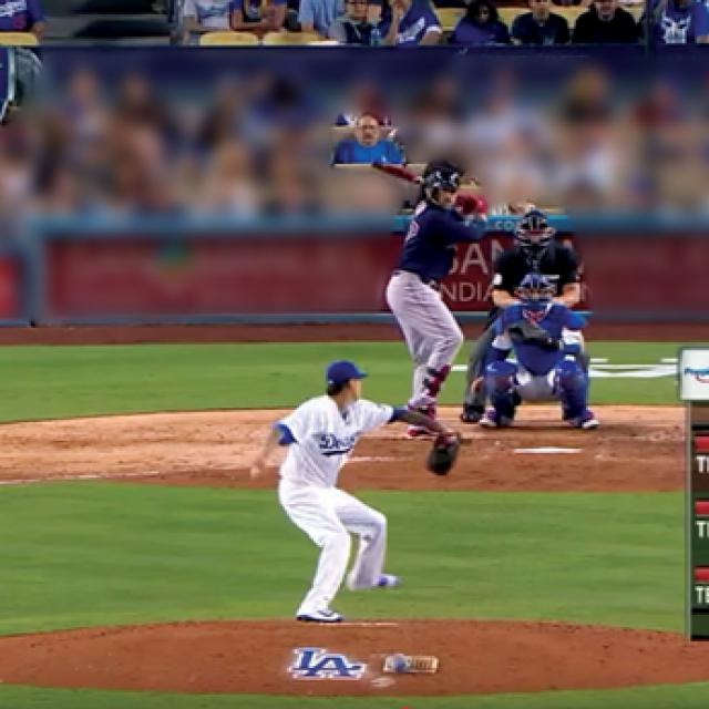 Kadar iz televizijskog prijenosa utakmice Red Soxa i Dodgersa na kojoj je viđen muškarac koji sliči Johnu Ruffu