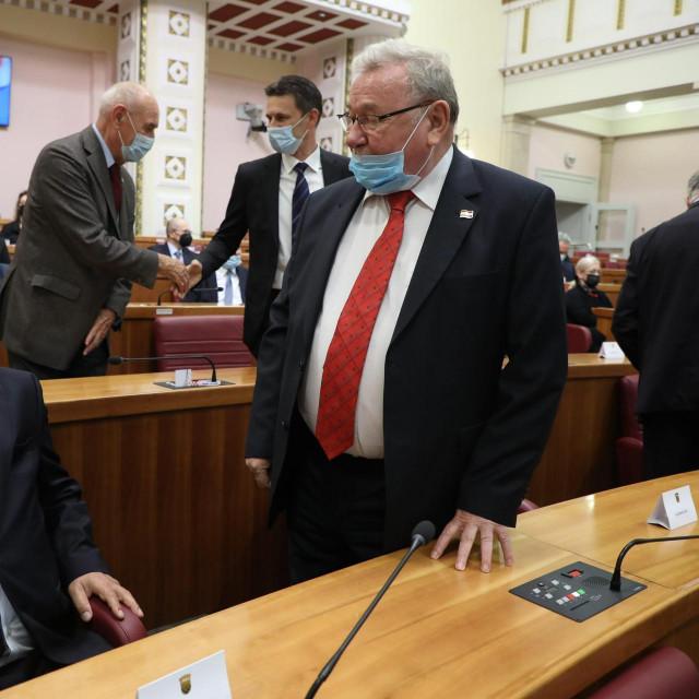 Luka Bebić i Vladimir Šeks