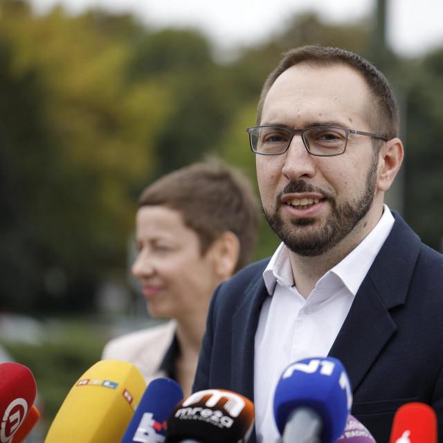 Press konferencija Tomislava Tomaševića<br />