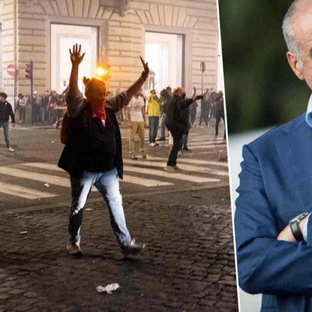 Prizori nereda u Rimu i Enrico Michetti