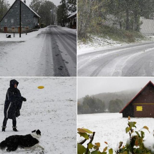 Snijeg u Gorskom kotaru