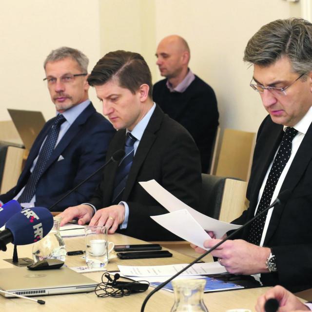Boris Vujčić, Zdravko Marić i Andrej Plenković